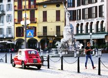 LOVERE, ITALY, 22 OCTOBER, 2018: Street scene in The Square - Piazza 13 Martiri royalty free stock images