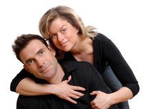 Lovers royalty free stock photo