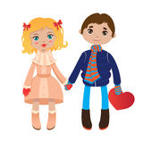 Lovers. Boy and girl holding hands Stock Images