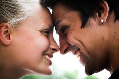 Lovers. Young women and men in love Stock Photography
