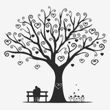 Lovers. Illustration magic tree with a pair of lovers Royalty Free Stock Images