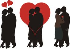 Lovers. Two people embracing each other in love royalty free illustration