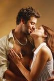 Lovers. A man hugs his girlfriend Stock Photos