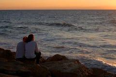 LOVERS. On sunset time, Tel aviv Isreal Stock Image