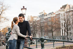 Lovers in Amsterdam Royalty Free Stock Image