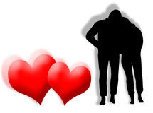 Lovers background Royalty Free Stock Images