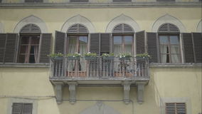 Lovers balcony in Florence Italy stock footage