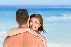Lovers at the beach Royalty Free Stock Photography