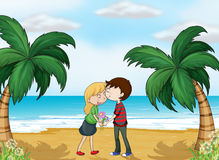 Lovers at the beach Stock Image
