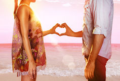 Lovers on beach Royalty Free Stock Photo