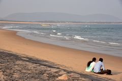 Lovers Beach in Visakhapatnam stock photography
