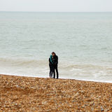 Lovers on the beach Stock Photography