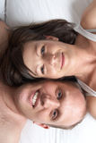 Lovers in bed Royalty Free Stock Photos
