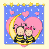 Lovers Bees Royalty Free Stock Photos