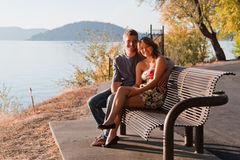 Lovers bench Royalty Free Stock Images