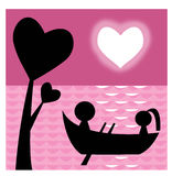 Lovers on boat Royalty Free Stock Photo
