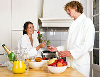 Lovers breakfast royalty free stock photos