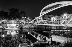 Lovers Bridge In The Night Stock Images