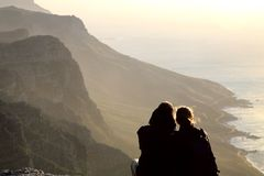 Lovers in cape point Stock Images