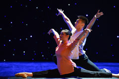 Lovers-Chinese style Ballet dance. June 10, 2015, the Jiangxi Vocational Academy of Art dance show performance Stock Images