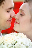 Lovers closeup shot stock images