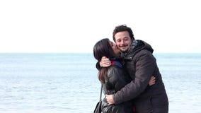 Lovers at coast Royalty Free Stock Photo