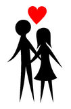 Lovers couple Royalty Free Stock Photography