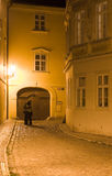 Lovers couple. In Prague Kampa lane Stock Images
