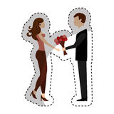 Lovers couple characters icon Royalty Free Stock Images