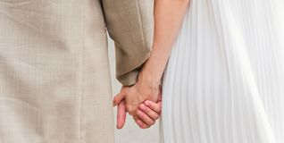 Lovers couple holding hands Royalty Free Stock Photo