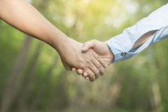 Lovers couple holding hands Royalty Free Stock Photography