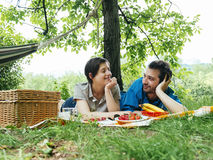 Lovers couple outdoor Royalty Free Stock Image