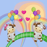 Lovers Cows royalty free illustration