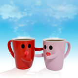Lovers cup Royalty Free Stock Image