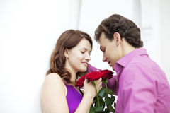 Lovers on a date Stock Photography