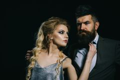 Lovers date. Happy valentines day. Couple of man and woman date on valentines day. Couple in love. Bearded man and. Lovers date. Happy valentines day. Couple of stock photography