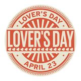Lovers Day stamp Royalty Free Stock Photos