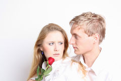 Lovers in dispute Royalty Free Stock Photography