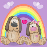 Lovers Dogs Royalty Free Stock Photography