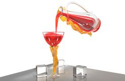 Lovers drink Stock Photography