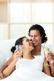 Lovers drinking Champagne Royalty Free Stock Photography