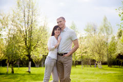 Lovers embracing Royalty Free Stock Photo
