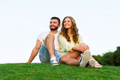 Lovers enjoying a date. Stock Image
