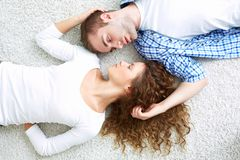 Lovers face to face Royalty Free Stock Photos