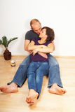 Lovers on the floor Royalty Free Stock Photo