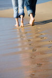 Lovers footprints Royalty Free Stock Photo