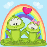 Lovers frogs Royalty Free Stock Images