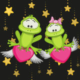 Lovers Frogs Royalty Free Stock Photo