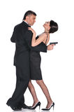 Lovers gangsters Stock Images