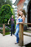 Lovers guy and a girl for walk Royalty Free Stock Photography
